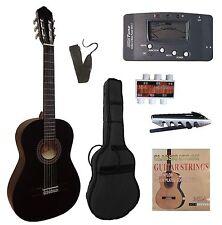 Gitarre 4/4,CK110,linkshänder-lefthand-schwarz, im Set-mit Stimmgerät-Zubehör!n