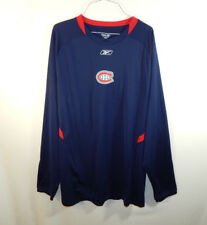 Montreal Canadiens NHL Hockey Long Sleeve Shirt Reebok Size Large L