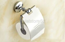 NEW Chrome Brass Finish Toilet Paper Roll Holder Bathroom Wall Mounted  qba804