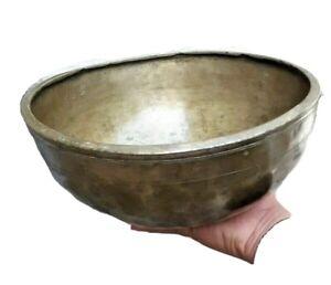 Vintage Old Brass Hand Carved Engraved beautiful singing bowl