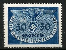 Nazi Germany Official Mint Stamp for Occupied Poland Eagle Swastika WWII 1940