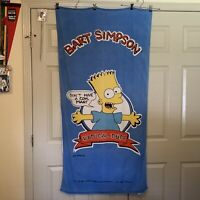 "Vintage Bart Simpson ""Don't Have A Cow Man"" Radical Dude The Simpson Beach Towel"