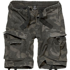 Brandit 2002.4 M65 Vintage Classic Cargo Shorts Combat Army Style Dark Camo S