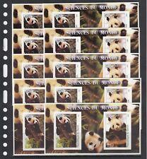 Pandas Bears Animals 2002 Benin  MNH 1 S/s IMPERF  X 10 Wholesale lot