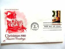 "October 31st, 1980 Season's Greetings ""Christmas 1980"" First Day Issue"