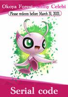 Pokemon Serial code Sword & Shield Okoya Forest Shiny  Celebi  Movies Coco Japan