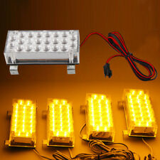 4X Amber 22LED Car Truck Emergency Beacon Warning Hazard Flash Strobe Light
