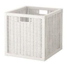 IKEA Branäs Basket, White 32x34x32 cm Storage Box Crate Kallax Shelving Boxes Box