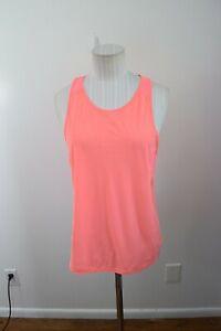 Lululemon 8 Pink Coral Tank Top Muscle Mesh Panel FLAWS