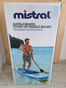 Stand Up Paddle Board mistral Komplettset Aufblasbar blau NEU OVP 320x84x15cm