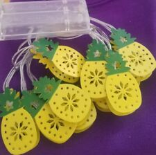 Lets Party Mini Pineapple String Night Lights 10 Battery Operated Indoor NEW