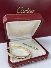 """Cartier Love Bracelet 17"""" 18K Gold Armband Aldo Cipullo 1970 Vintage v. Händler"""