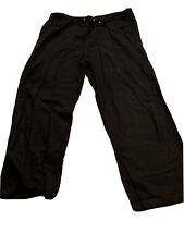 Ladies Plus Size Black Linen Trousers Heart Yours Size 20