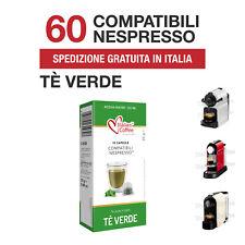 60 Capsule Cialde The Tè Verde in Foglia Italian Coffee compatibili Nespresso