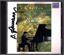 Vladimir Ashkenazy SIGNED Chopin Piano Sonata No. 2 3 fantasia CD klavisesonaten