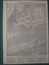 1926 MAP ~ LONG ISLAND NEW YORK BOROUGHS BROOKLYN QUEENS