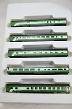 N Smooth Side 4000 Series 5 Car Set–Burlington Northern (2Tone Green)(1-004007)