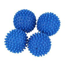 4 x Blue Reusable Dryer Balls Fabric Softener Ball T1