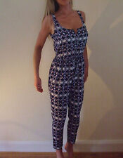 New w/o Tags Hollister Silky Open Back Fitted Summer Jumpsuit Size Small UK 6 8