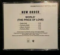 NEW ORDER WORLD THE PRICE OF LOVE PROMO CD RARE