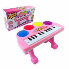 Kids Pink Electronic 3d Mini Piano Organ Keyboard Musical Toy Light & Sound
