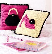 TWEEN Girly Girl Pillows/Crochet Pattern INSTRUCTIONS ONLY