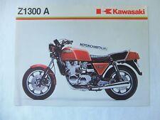 Kawasaki moto Z1300 A  pubblicita brochure depliant motorcycles  reclame ROSSO