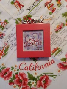 Vintage Heart photo Frame Red Valentine Photo Frame Elsa Metal Photo Frame 3x5