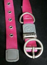 "Top PawSignature PinkDog Collar Brand New,MediumFabric14""-18"" Steel Buckle"