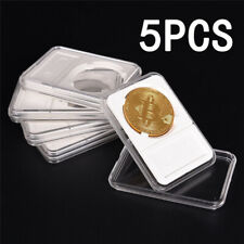 5pcs Coin Slab Holder For Grade NGC PCGS Display Storage Box Case-Protector 30mm