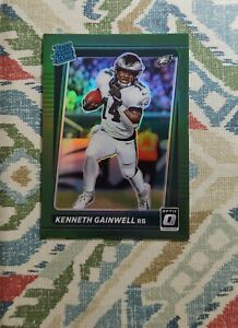 2021 Donruss Kenneth Gainwell RC Green Holo Optic Preview #267 Rated Rookie 🍏