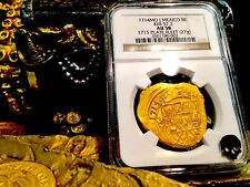 MEXICO 8 ESCUDOS 1715 FLEET NGC 58 SHIPWRECK GOLD TREASURE PIRATE COIN