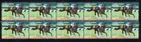 SECRETARIAT HORSE RACE LEGEND STRIP OF 10 MINT VIGNETTE STAMPS 5