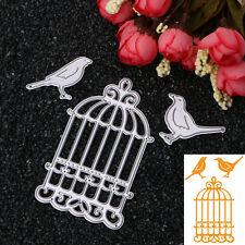 3 Pcs Birdcage Bird Cutting Dies Stencil for DIY Album Scrapbooking Hand Craft