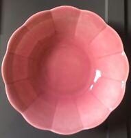 """W S George PETALWARE Rose Pink 9"""" Pastel Bowl"""
