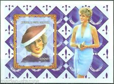 CENTRAL AFRICA  PRINCESS DIANA SOUVENIR SHEET  IMPERFORATED PART I   MINT NH