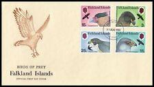 1980 Falkland Islands Birds of Prey Official FDC Port Stanley