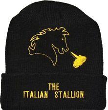 Rocky Balboa Horse Logo Wool Hat Beanie Knit The Italian Stallion Apollo Creed