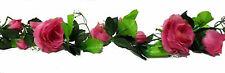 Rose Garland Pink Mauve Wedding Arch Gazebo Decor Silk Flowers Centerpieces