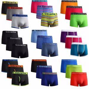 6-12 Pack Luxury Men's Cotton Rich Boxer Shorts Sports Underwear Trunks S,M,L,XL