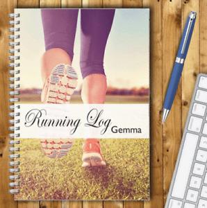 RUNNING LOG BOOK A5 PERSONALISED RUNNERS DIARY RUNNING TRACKER JOURNAL LOG B