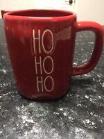 "New RAE DUNN Holiday Christmas LL ""HO HO HO"" Red Mug By Magenta"