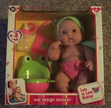New Jc Toys Berenguer Lots To Love Babies Frog Potty Bottle Pacifier Bib Nib