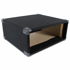 "4u 19"" Inch Black Carpet Covered MDF Rack Equipment Sleeve Case Protect Your Amp"