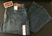 Levis 504 Tilted Denim Jeans Womens Medium Wash Size 17 Straight Leg stretch NWT