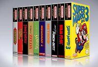 (Package of 5) Nintendo NES, SNES, N64, and Sega Genesis, 32X custom game cases