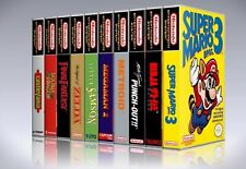 (Package of 10) Nintendo NES, SNES, N64, and Sega Genesis, 32X custom game cases