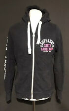 Superdry State Women's Casual Black Zip Up Hoodie Jumper XL Cotton Blend