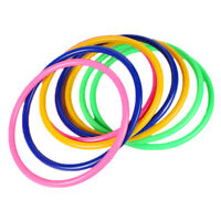 10× Plastic Toss Rings Circle Fun Hoopla-Game Throw Hook to Toys J2A1 Kids G8E0