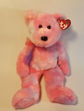 "TY Beanie Buddy 2002 ""CLUBBY 5th"" Anniversary Edition RETIRED Clean Pink Ty Dye"